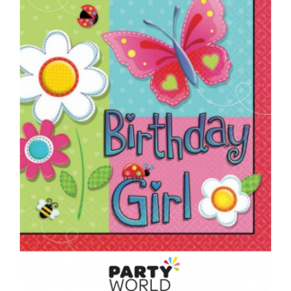 Butterfly Garden Girl Luncheon Napkins (16)