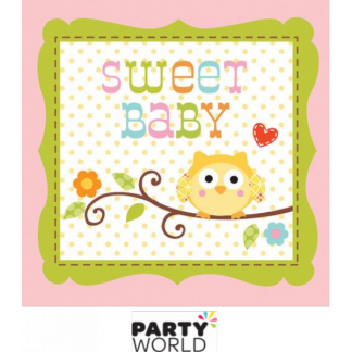 Happi Tree Sweet Baby Girl Beverage Napkins (16)