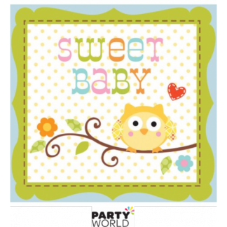 Happi Tree Sweet Baby Boy Beverage Napkins (16)