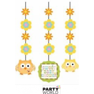 Happi Tree Sweet Baby Shower Fancy Hanging Cutouts (3)