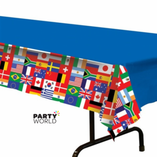 International Flag Plastic Tablecover