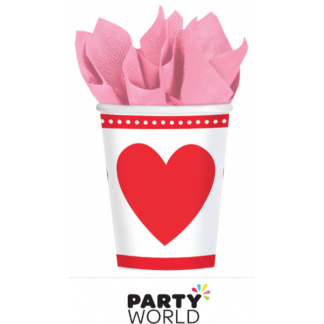 Sweet Love Heart Paper Cups (8)