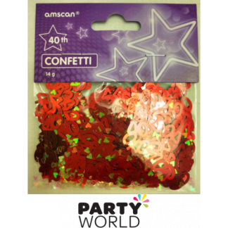 40th Red Foil Confetti (14 g)