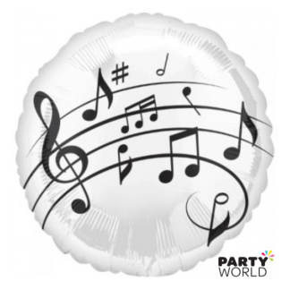 Music Note Foil Balloon
