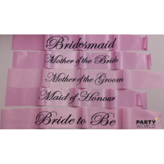Pink Hen's Night Sashes Set (7) Assorted