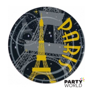 Paris At Night 9in Paper Plates (8)
