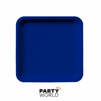 True Navy Blue Square Paper Plates 9in (14)