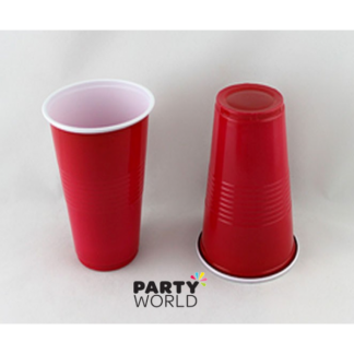 Red Plastic Cups (10) 500ml
