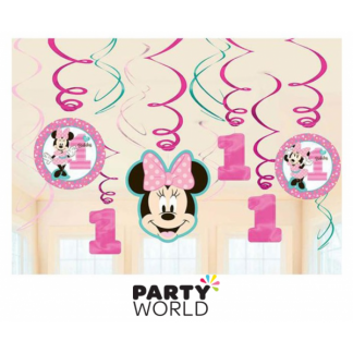 Minnie's Fun To Be One Swirl Decoration (12)