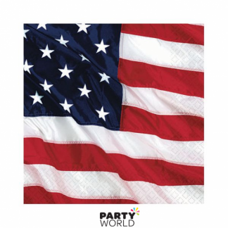 Flying Colors American Flag Beverage Napkins (16)