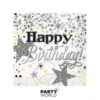 Glittering Birthday Beverage Napkins (16)