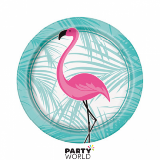 Pink Flamingo 7in Paper Plates (8)