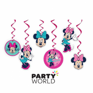 Minnie Mouse Swirl Hanging Decorations (6)
