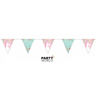 Pretty Unicorn Birthday Bunting 1.9m