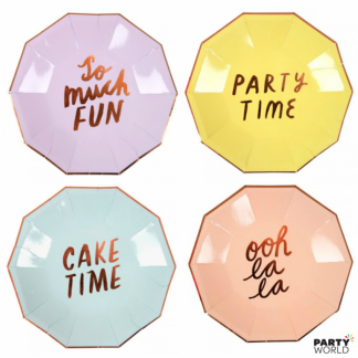 Meri Meri Assorted Party Plates (8)