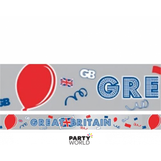 Great Britain Foil Banner / Tape 15m