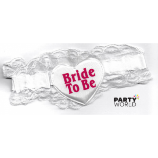 Bride to Be White Garter