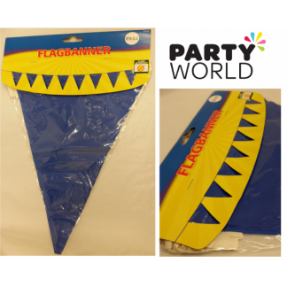 Plain Flag Bunting Banner 5m - Royal Blue