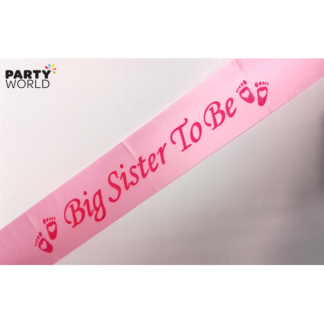 Big Sister To Be Sash - Pink