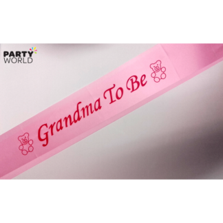 Grandma To Be Sash - Pink