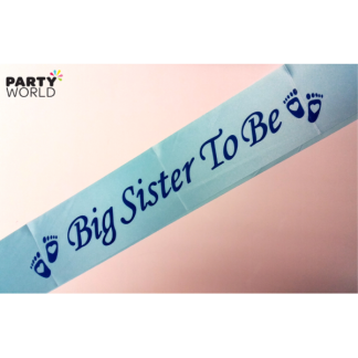 Big Sister To Be Sash - Blue
