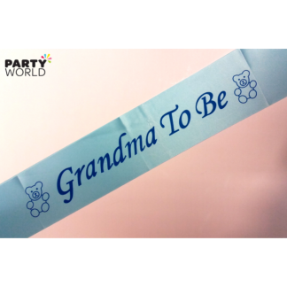 Grandma To Be Sash - Blue