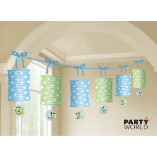 Mickey Mouse 1st birthday Paper Lantern Garland