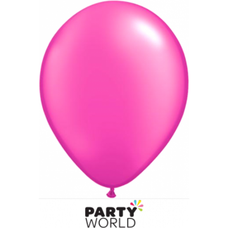Pearl Hot Pink Latex Balloons (20) 30cm