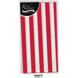 Red and White Striped Tissue Paper (3)