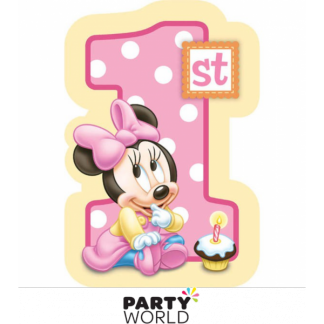 Minnie Mouse 1st Birthday Invitations (8)
