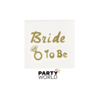 Bride To Be Gold Flash Temporary Tattoo