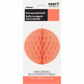 Honeycomb Ball 8in - Coral