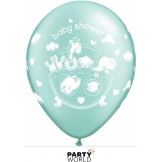 Qualatex Adorable Ark Baby Shower Balloons Green (5)