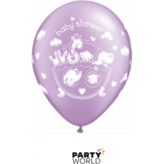 Qualatex Adorable Ark Baby Shower Balloons Purple (5)