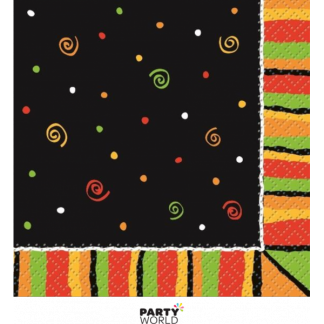 Fiesta Stripes Beverage Napkins (16)