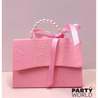 Pink Handbag Paper Treat Box (big)