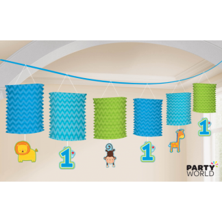 One Wild Boy 1st birthday Paper Lantern Garland