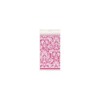Pink Damask Plastic Table Cover