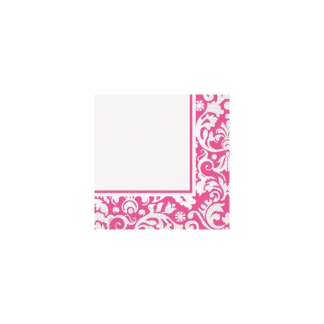 Pink Damask Luncheon Napkins (16)