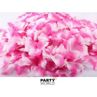 Artificial Silk Rose Petal Scatters - Pink/White Fade (*100)