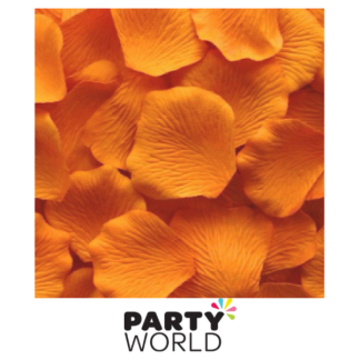 Artificial Silk Rose Petal Scatters - Saffron (*100)