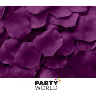Artificial Silk Rose Petal Scatters - Purple (*100)