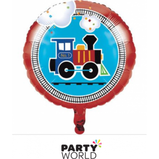 All Aboard Foil Balloon 17in