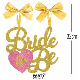 Bride to Be Glittery Banner / Chair Sign