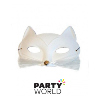 Tabby Cat with Whiskers Masquerade Mask