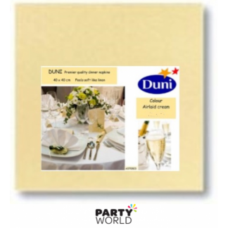 Dunisoft Cream Airlaid Quality DINNER Napkins (60)