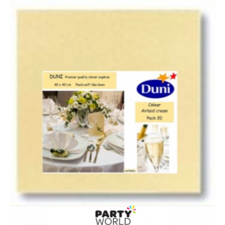 Dunisoft Cream Airlaid Quality DINNER Napkins (20)