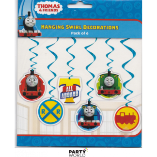 Thomas & Friends Swirl Decorations (6)