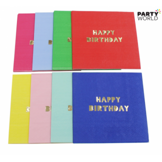 Happy Birthday Beverage Napkins (16)