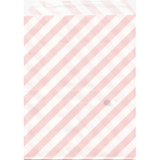 Baby Pink Striped Paper Bags (25)